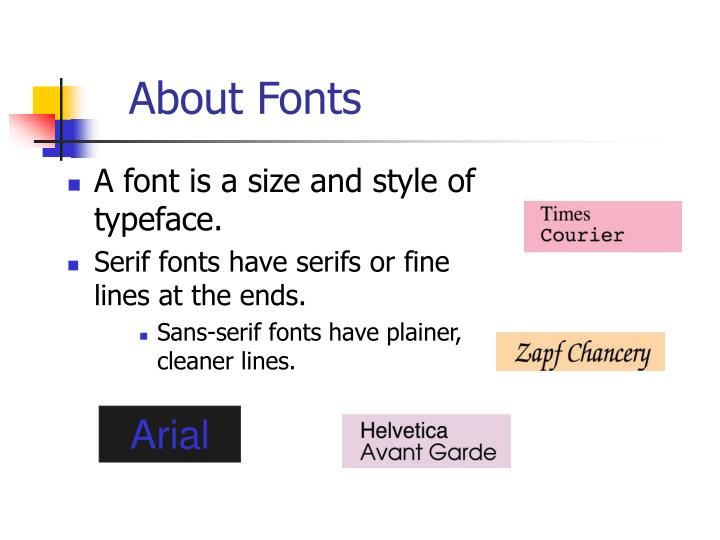 About Fonts