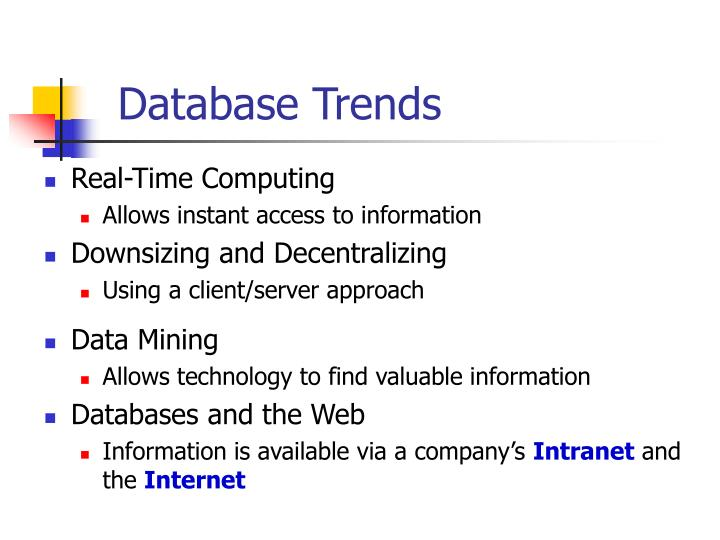 Database Trends