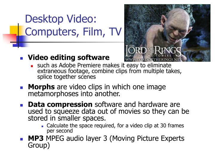 Desktop Video: Computers, Film, TV