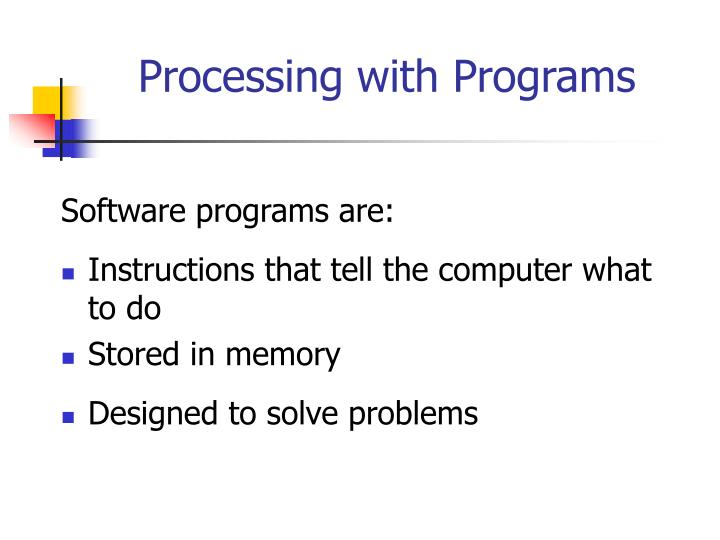 Processing with Programs