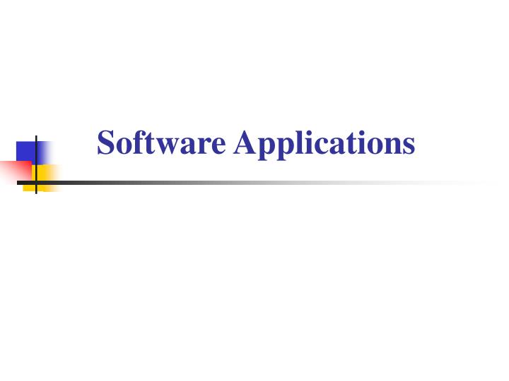 software applications n.