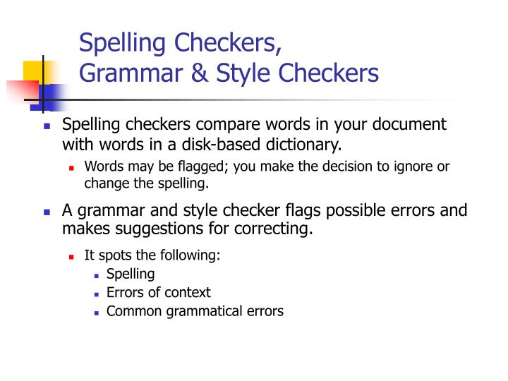 Spelling Checkers,