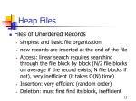 heap files