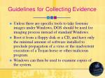 guidelines for collecting evidence14