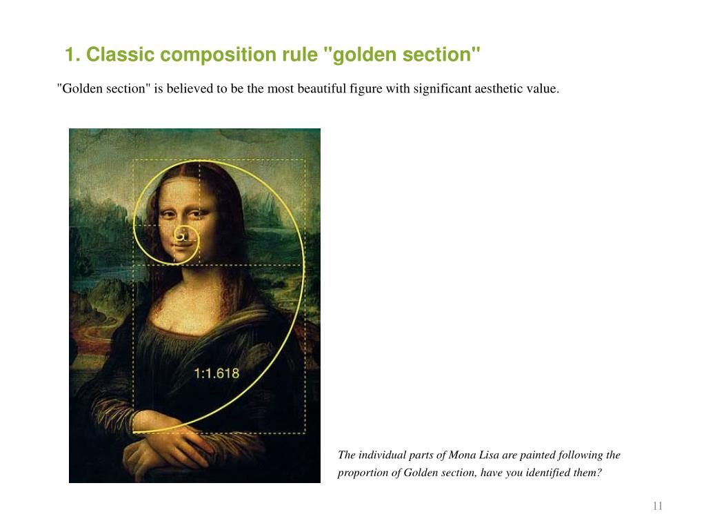 """1. Classic composition rule """"golden section"""""""