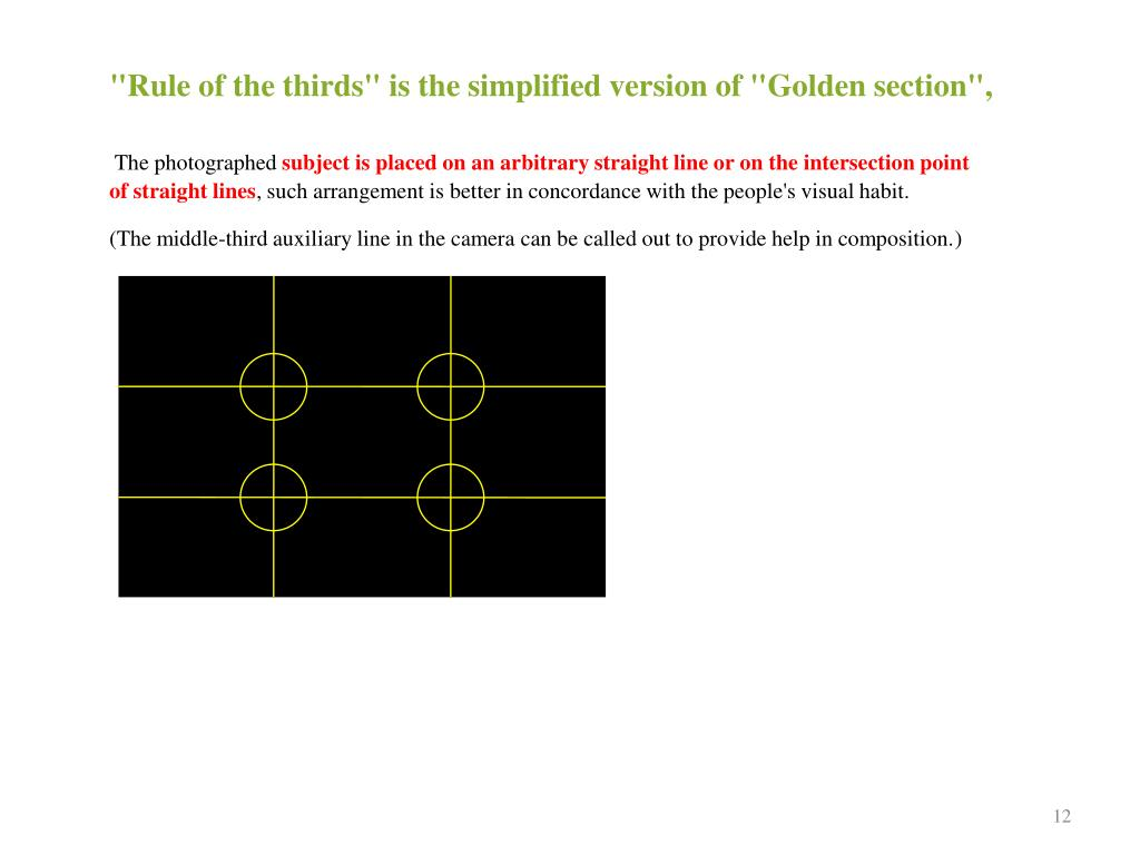 """""""Rule of the thirds"""" is the simplified version of"""
