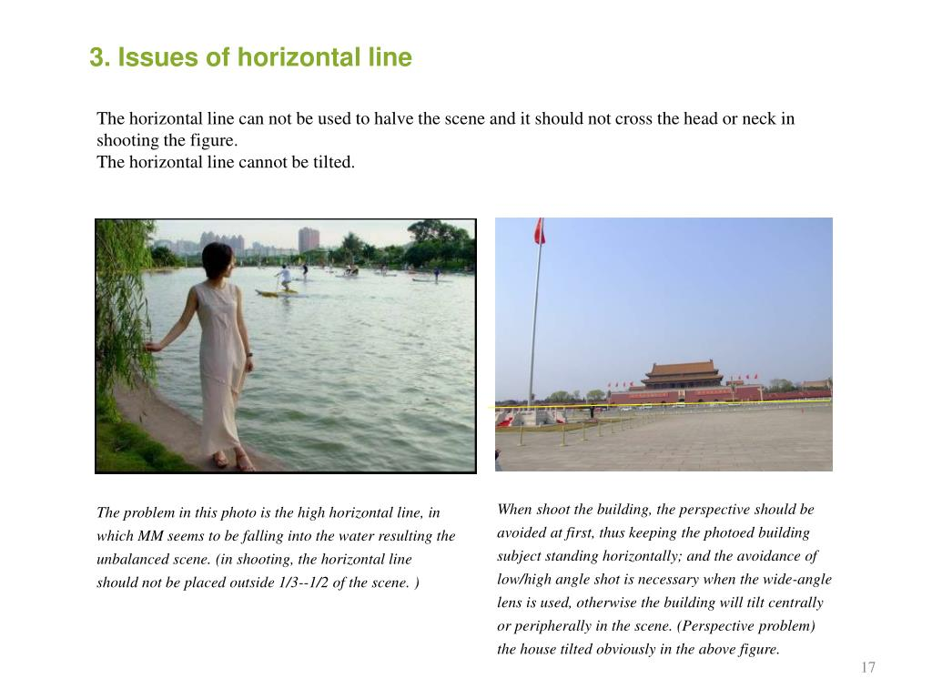 3. Issues of horizontal line