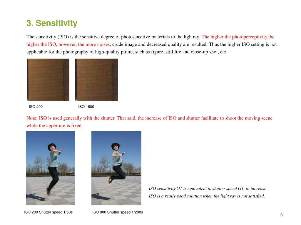 3. Sensitivity