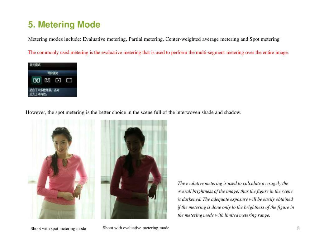 5. Metering Mode