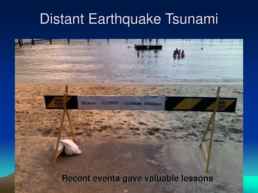 Distant Earthquake Tsunami