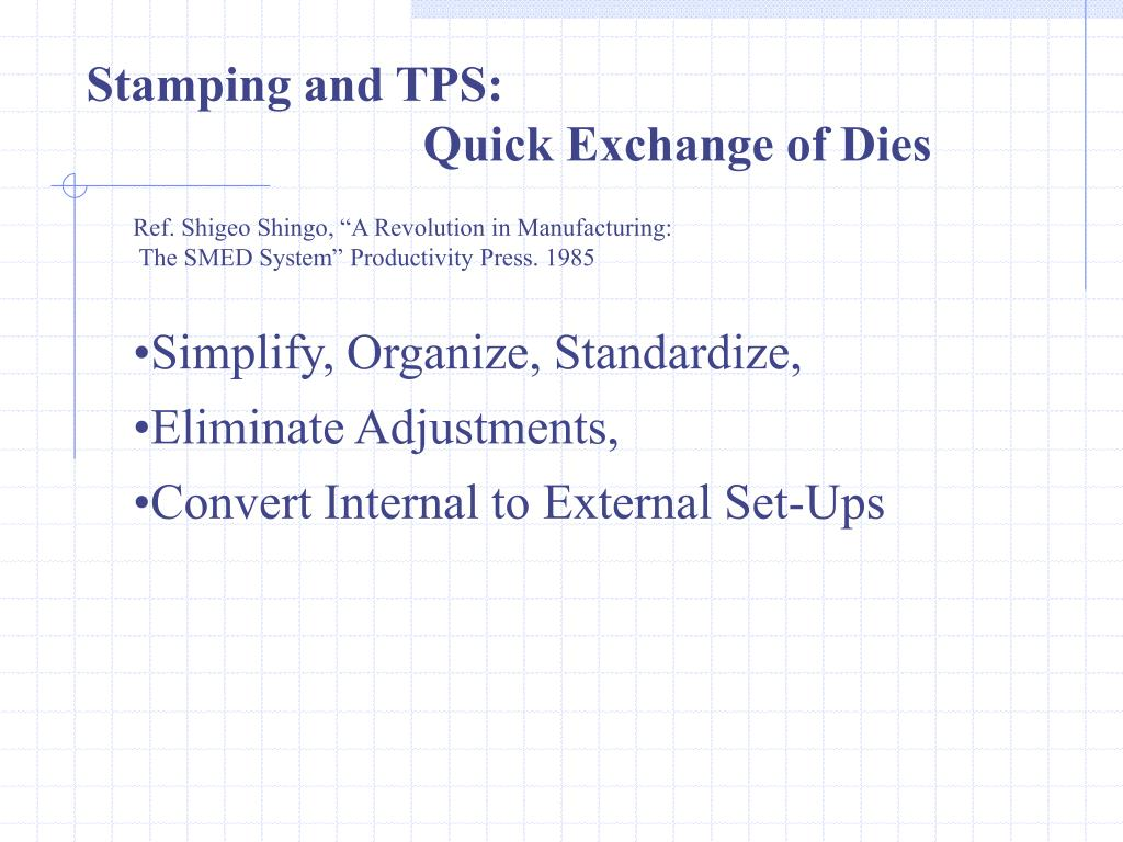 Stamping and TPS: