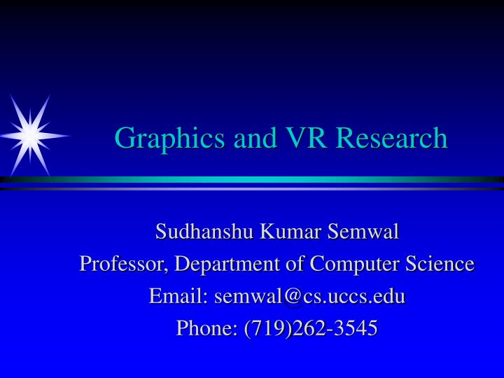 graphics and vr research n.