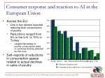 consumer response and reaction to ai in the european union