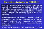 preventive strategies for t1dm 1