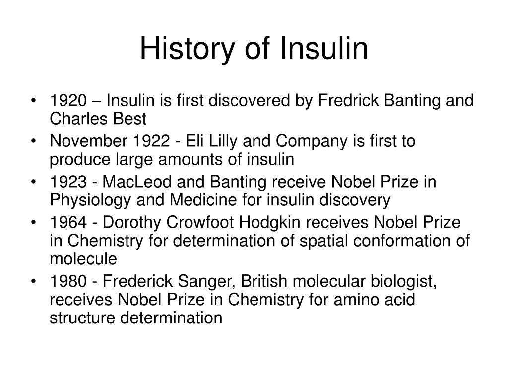 History of Insulin