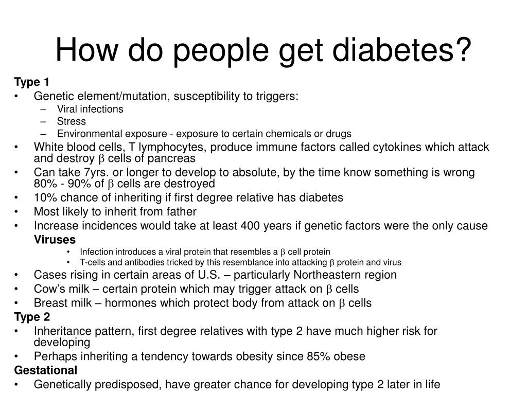 How do people get diabetes?