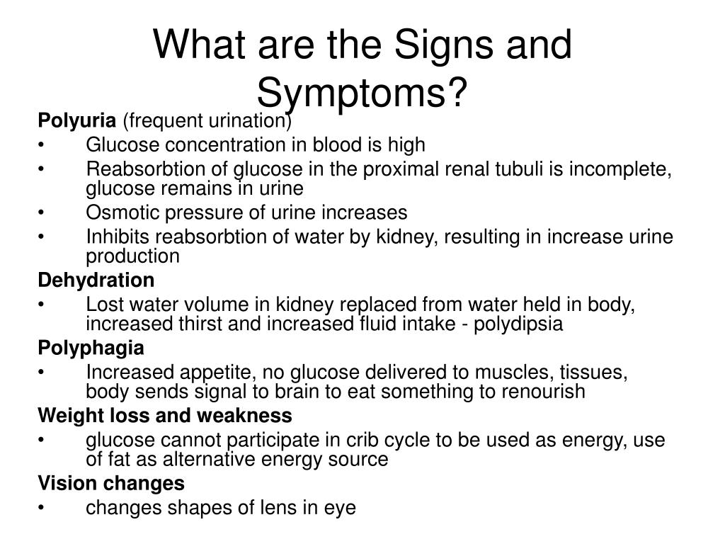 What are the Signs and Symptoms?