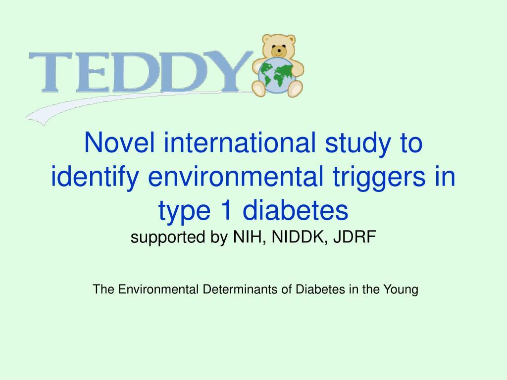 Novel international study to identify environmental triggers in type 1 diabetes