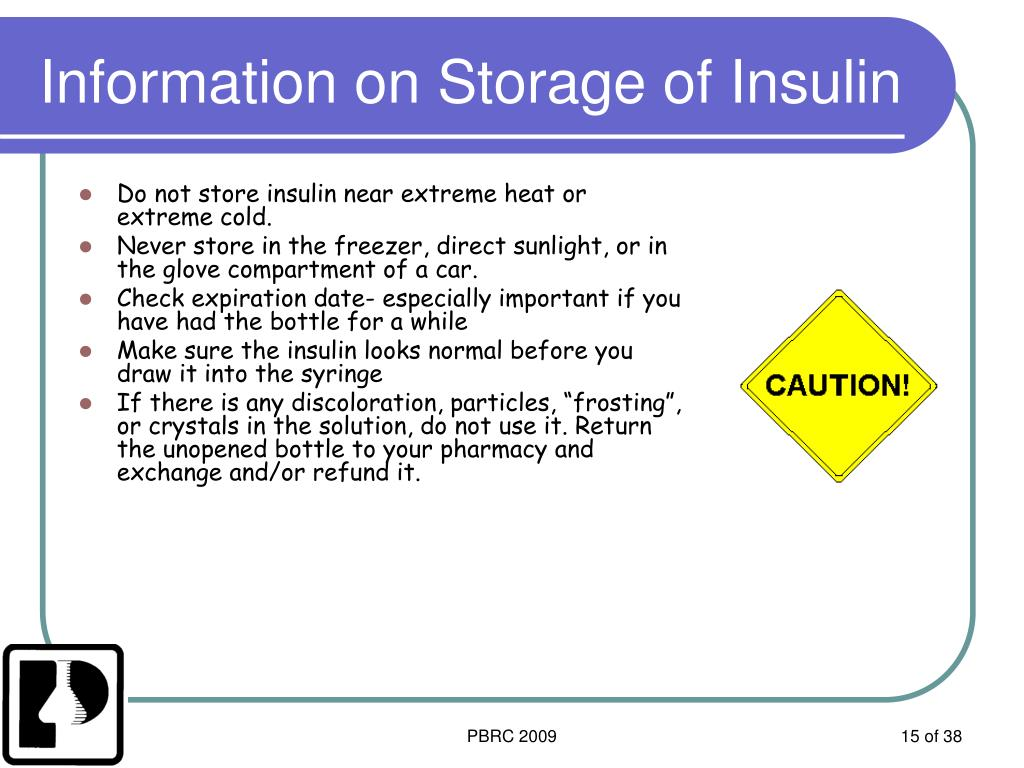 Information on Storage of Insulin