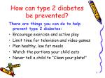how can type 2 diabetes be prevented