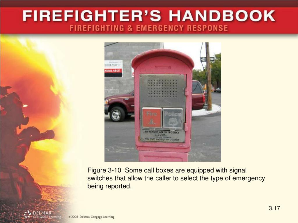 Figure 3-10  Some call boxes are equipped with signal switches that allow the caller to select the type of emergency being reported.