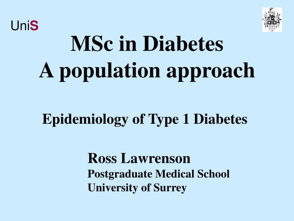 msc in diabetes a population approach l.
