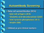 autoantibody screening