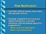 risk notification35