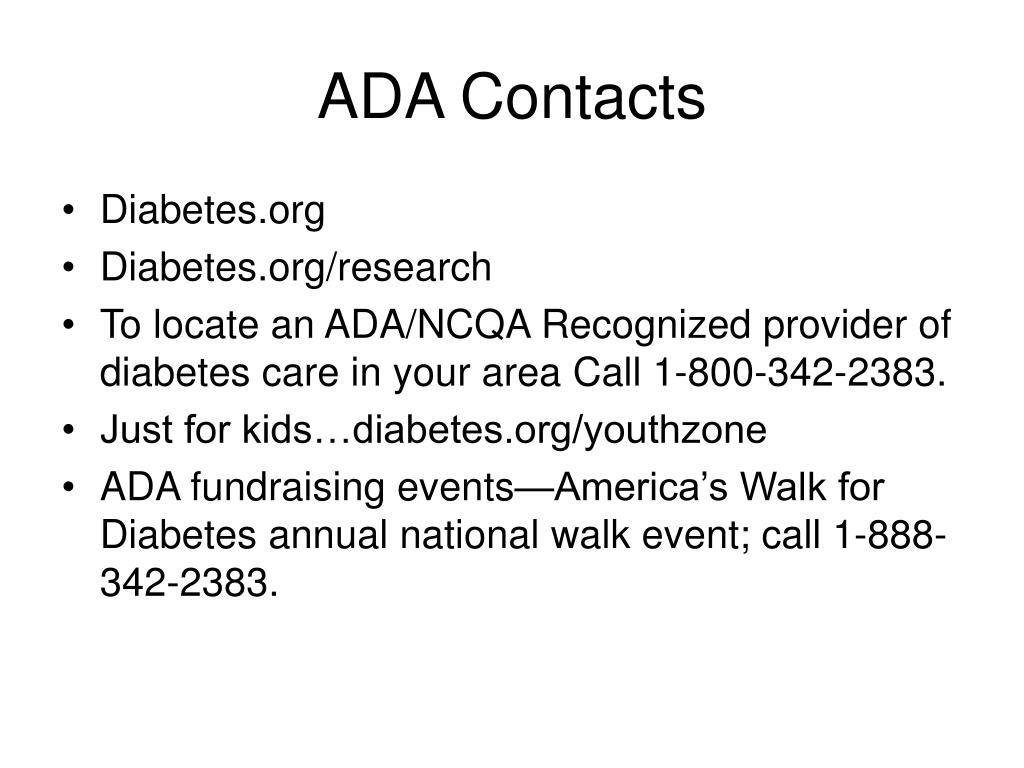 ADA Contacts