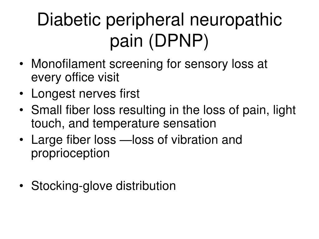 Diabetic peripheral neuropathic pain (DPNP)