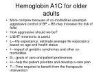 hemoglobin a1c for older adults