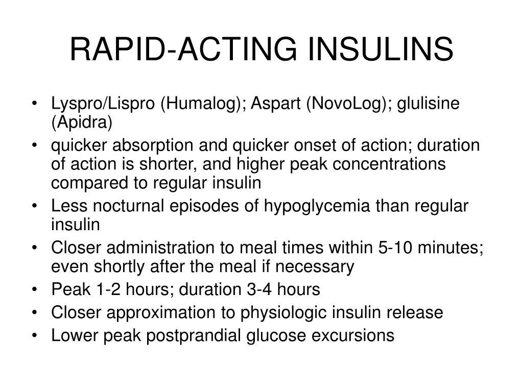 RAPID-ACTING INSULINS