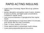 rapid acting insulins
