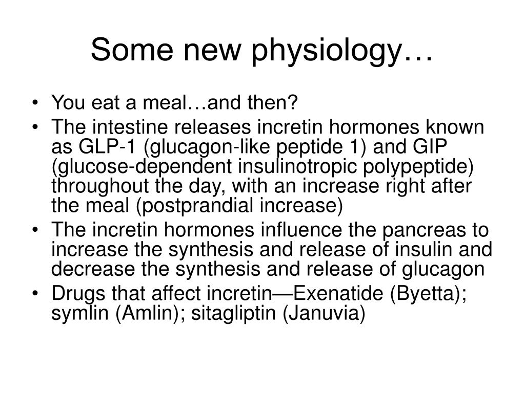 Some new physiology…