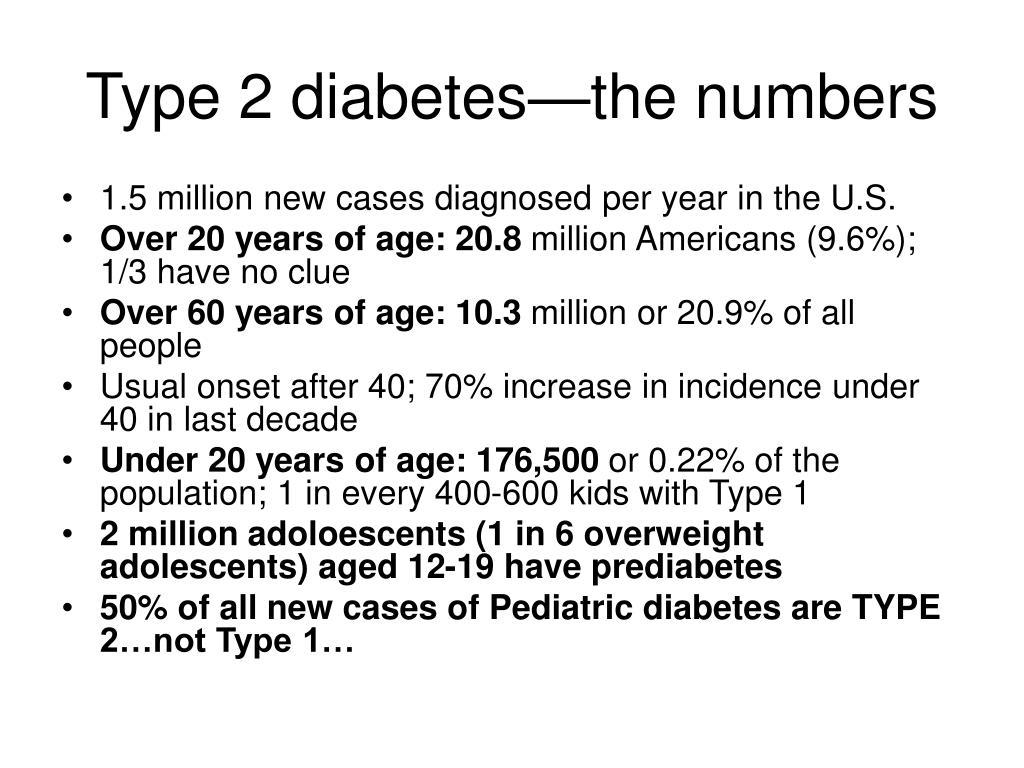 Type 2 diabetes—the numbers