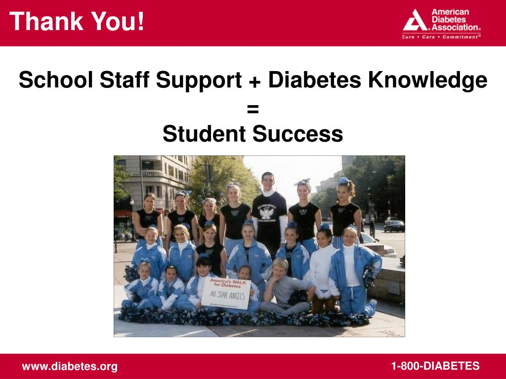 School Staff Support + Diabetes Knowledge =