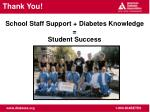school staff support diabetes knowledge student success