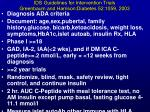 ids guidelines for intervention trials greenbaum and harrison diabetes 52 1059 2003