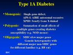 type 1a diabetes