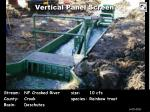 vertical panel screen