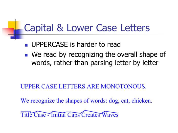 Capital & Lower Case Letters