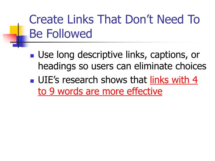 Create Links That Don't Need To Be Followed