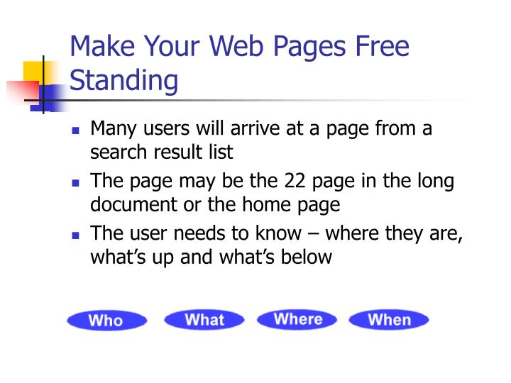 Make Your Web Pages Free Standing