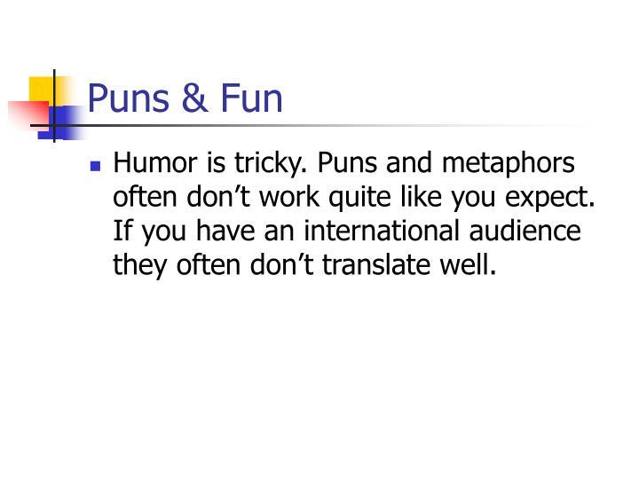 Puns & Fun