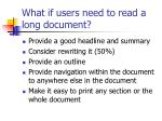 what if users need to read a long document