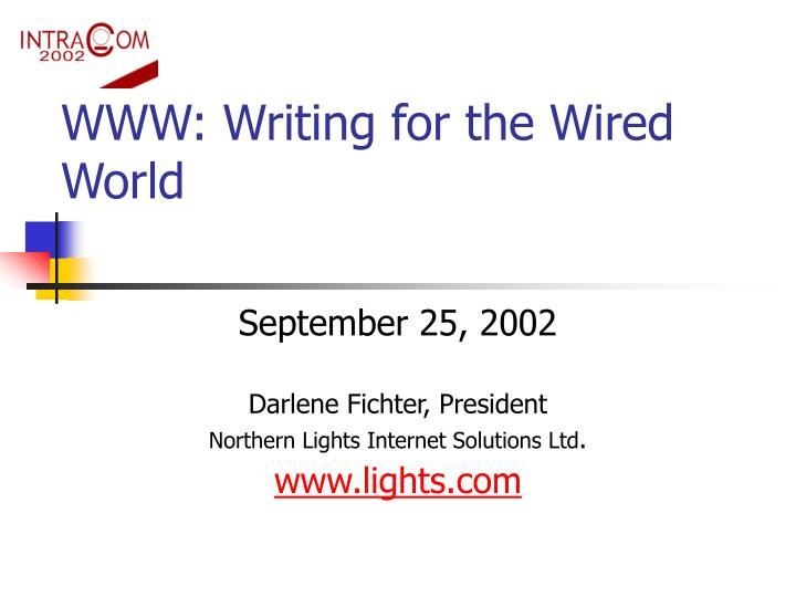 www writing for the wired world n.