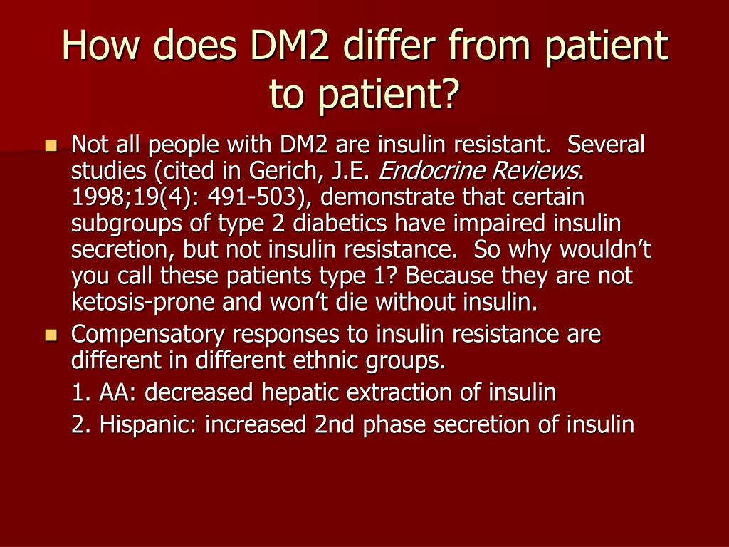 How does DM2 differ from patient to patient?