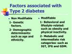 factors associated with type 2 diabetes