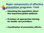 major components of effective prevention programs cont32