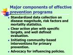major components of effective prevention programs